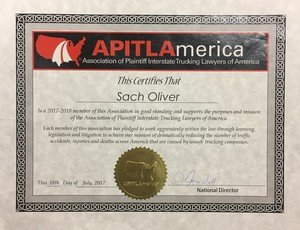APITLAmerica – Association of Plaintiff Interstate Trucking Lawyers of America